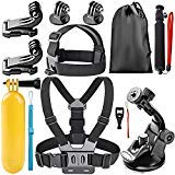 Globmall 8-In-1 Action Camera Accessory Kit for BOPOWER/BOMAKER/GoPro Hero Session/AKASO/VicTsing/APEMAN/Sony Sports DV and More