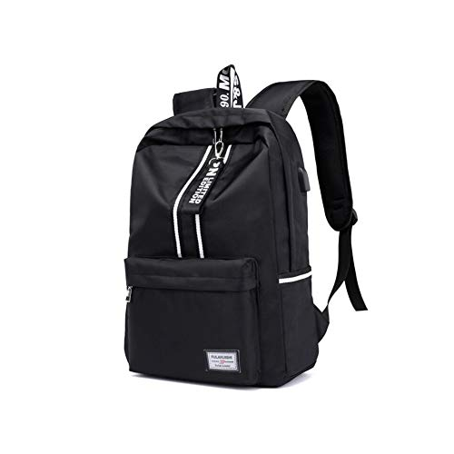 YSX-backpack Frauen Rucksack Reise große Kapazität Oxford Tuch wasserdichtes Gewebe Doppelreißverschluss 15,6 Laptop-Tasche,Black