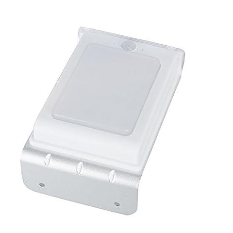 Anten LED Solar Wandaussenleuchten mit Bewegungsmelder & Helligkeitssensor (Glatte Oberfläche)(16 LED-2.2W-6500K-Weiß & 15*9.5*9CM (Moderne 3 Tier Beleuchtung)