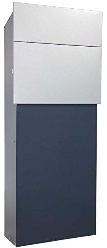 Designer-Briefkasten LUMA 222 SafePost Anthrazit/Silber