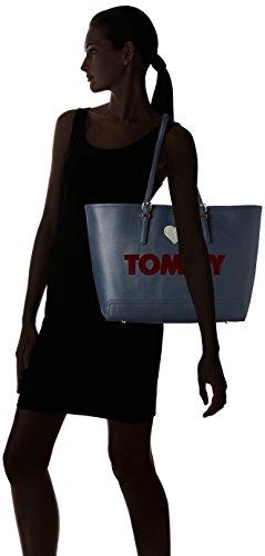 Tommy Hilfiger Honey Ew Tote, Sacs portés main Bleu - Blau (Midnight Embroidered 902 902)
