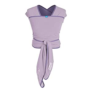 We Made Me Flow, Life Active Baby Wrap Carrier from 3.6-15.9 kg, Adjustable Flexible Fabric, Breathable and Light, Lavender   4