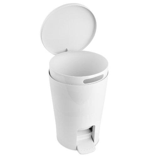 TATAY Diábolo - Cubo de baño con 5 l de capacidad, color blanco