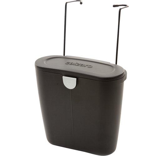 Preisvergleich Produktbild Abfallbehölter mit Klappe, schwarz, 24x26 cm, Flexible Befestigung möglich: Camping Müll Eimer Abfalleimer Einbau Tonne Wohnwagen Auto Flexibele Befestigung