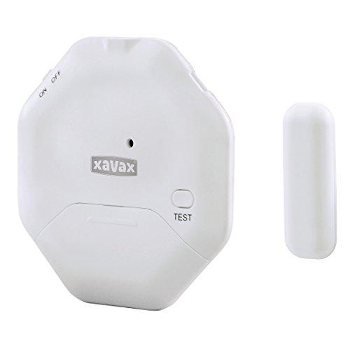 Xavax Alarmanlage (für Fenster Oder Tür, Extra Flacher Einbruchschutz, Ideal für Balkontüren Oder Schiebetüren)