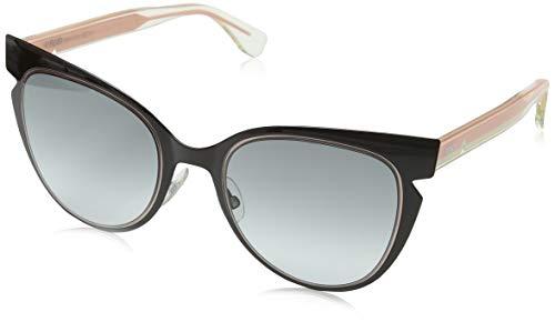 Fendi 0125/s (53 mm) occhiali da sole, giallo/grigio, 55 donna
