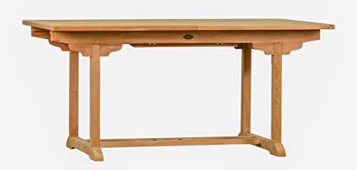 ... Als Großer Küchen Tisch, Balkon Tisch, Garten Tisch | Ausziehbarer Teak  Tisch, Esstisch Für Draußen | Verlängerbares Garten Möbel Aus Massiv Holz