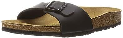 Birkenstock Madrid, Unisex Adults' Sandals, Black, 2.5 UK (35 EU)
