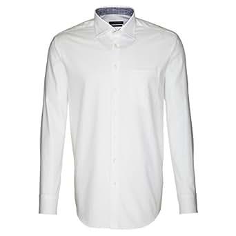 Seidensticker Hemd Uno Kentkragen in Langarm (66cm) B�gelleicht weiss, Einfarbig, Gr��e 46 - XXL