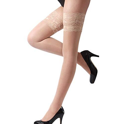 Quaan-Frau Kleider Women's She's Got Legs Thigh High Stockings,halterlose Strümpfe mit Stay up Silikon und Spitze Oben Einheitsgröße Strumpfe Damen (Shes Got Legs)