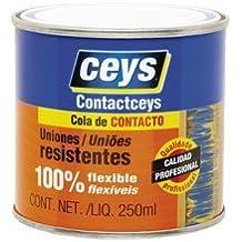 Cola de contacto 1/4 l. - un cuarto de litro contactceys para uniones flexibles y duraderas - Bote de 250 ml. De cola de impacto uso general - Garantía ceys