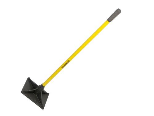 Roughneck 64379 - Pisón de tierra cuadrado con mango de fibra de vidrio (20,3 x 20,3...