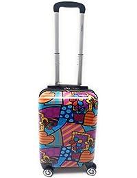 Trolley Bagaglio a Mano Ryanair Priority Abs Lucido con Disegno 8 Ruote Idoneo Cm.55x40x20
