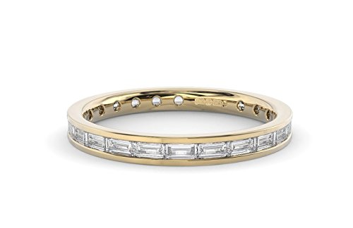 0.75 carat Baguette Cut Diamonds Full Eternity Ring Available in Gold and Platinum (9ct Yellow Gold, L)