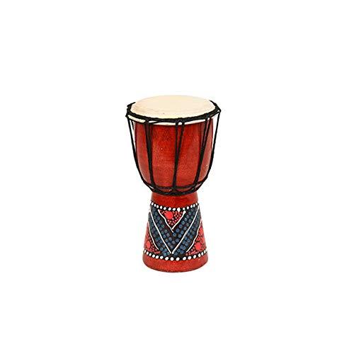 Man9Han1Qxi 4 / 6inch Holz bemalte afrikanische Hand Trommel Percussion Musik Djembe Ballade Neuheit lustiges Spielzeug 20cm (Afrikanische 20 Trommel)