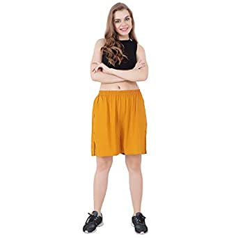 Vivaa Premium Rayon Shorts for Women/Girls Regular Fit & Comfortable Shorts