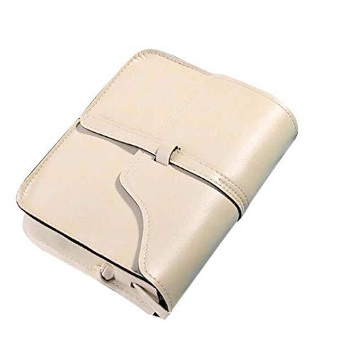 ITCHIC Borsa A Tracolla Vintage In Pelle Con Tracolla A Tracolla Mini Borsa A Tracolla Diagonale Retrò Cross Bag Diagonale Moda Casual Borsa Tinta Unit