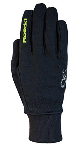 Roeckl Kinder Rossa Jr. Handschuhe, Schwarz/Gelb, 4