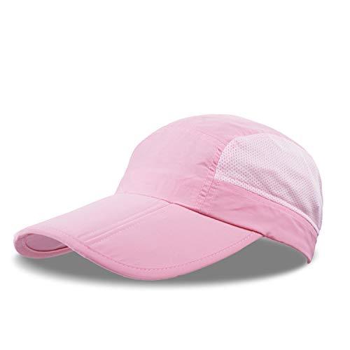 aseball Kappe Sommer Masche Laufende Hüte Visiere Sport Hut Sport wasserdichter Hut Fernlastfahrer-Hut Wandern Radfahren einstellbar Unisex Deckel(Pink) ()