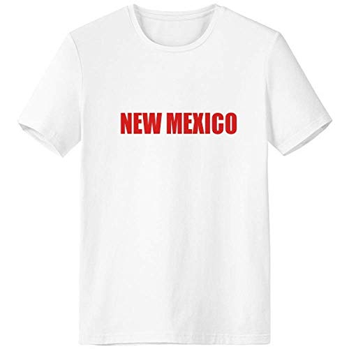 fac4ab76a GZD New Mexico America City Red White T-shirt Short Sleeve Crew Neck Sport  Unisex