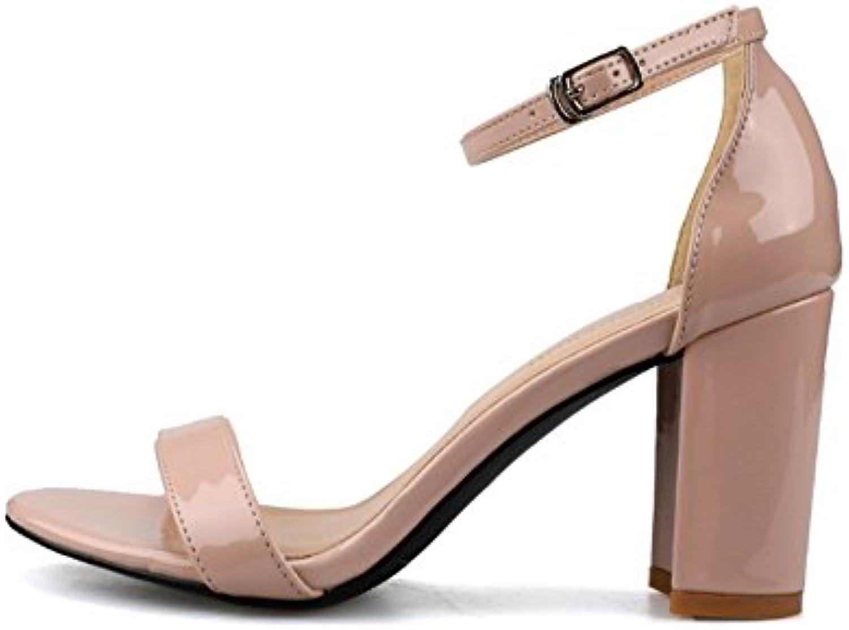 NHGY Sandalias, laca bolsos, hebillas, aspero y de moda sandalias de mujeres,8cm,40 -