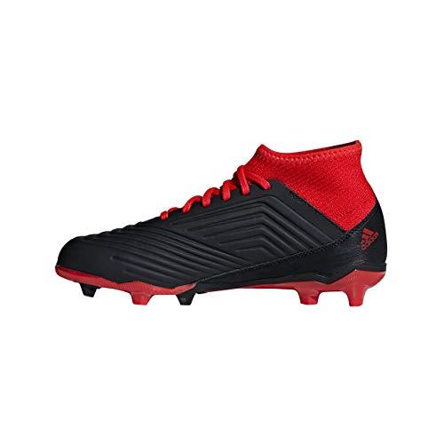 Adidas predator 18.3 fg, scarpe da calcio unisex-bambini, nero cblack/ftwwht/red, 38 2/3 eu