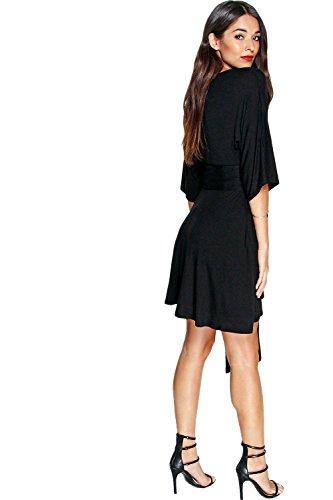 Nackt Kira Skaterkleid Mit Kimonoärmeln Und Obi-Gürtel Nackt