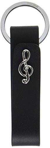 Troika Mr. Elegante Manschettenknöpfe Leder Schlüsselanhänger (Leder-schlüssel-schlaufe Schwarze)