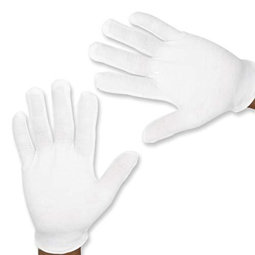 Super Mario weiße Handschuhe aus Baumwolle