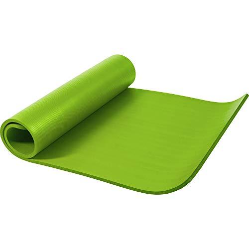 GORILLA SPORTS Yogamatte in verschiedenen Farben und Größen, LimeGrün, 190 x 100 x 1.5 cm