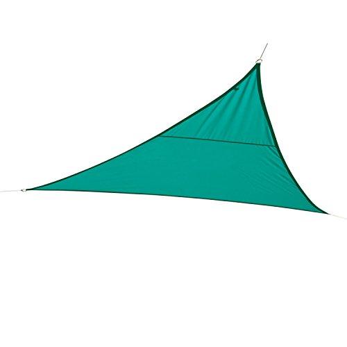 Hespéride Toile Solaire/Voile d'ombrage Triangulaire Curacao - 3 x 3 x 3 m - Bleu émeraude