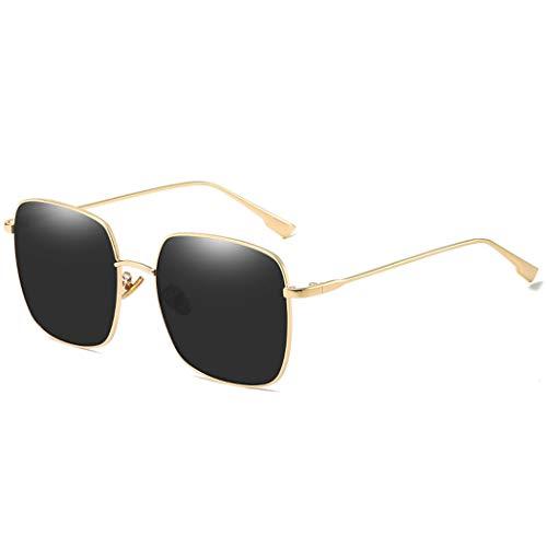 YONGYONG-Sunglasses Sonnenbrille Sterne Net Rote Sonnenbrille Weibliche Koreanische Version Der Straße Schlagen Rundes Gesicht Anti-UV-Männer Und Frauen Mit Dem Gleichen Absatz (Farbe : Schwarz)