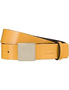 JOOP! Gürtel Damengürtel Ledergürtel Apricot/Gelb 3703, Länge:85 cm, Farbe:Gelb