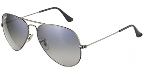 Ray-Ban Aviator Sunglasses (Gunmetal) (RB3025|004/78|58)