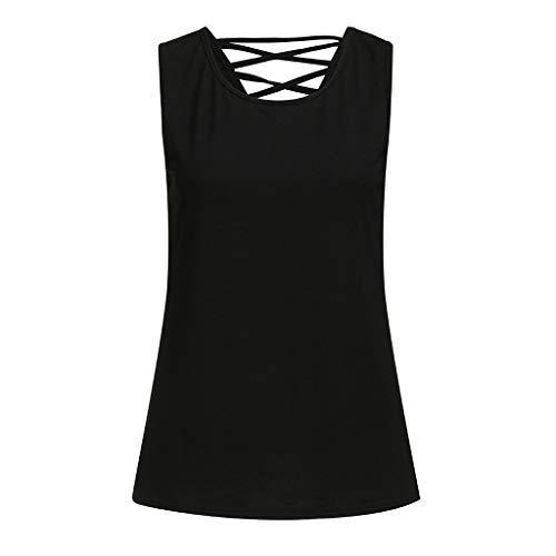 Schulter Sexy Damen Yoga Activewear Tank Top RüCkenfreie äRmellose Fitness Shirts Atmungsaktives Laufshirt ()