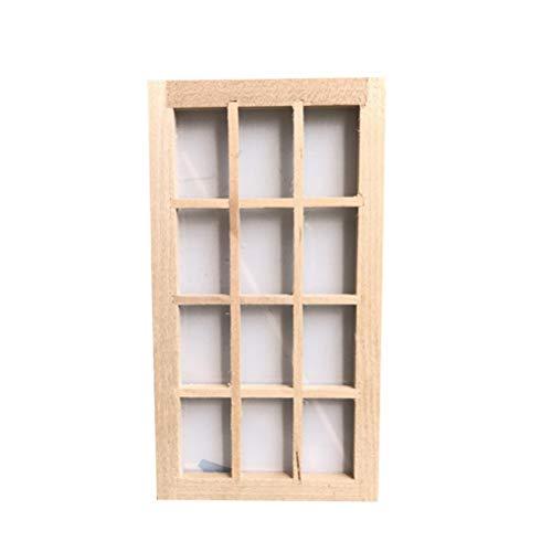 SUPVOX 1 Stück Puppenhaus Miniatur Möbel 12 Panel Fenster dekorative Möbel (Dekorative Fenster-panels)