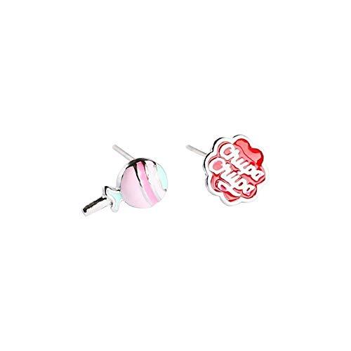 Ohrringe, Lutscher, reine Silberohrringe, einfache, personalisierte Ohrringe, 0,6 * 1,0 cm / 0,8 cm