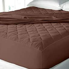 Gemshop Brown Colour Waterproof Double Bed Mattress Protector.