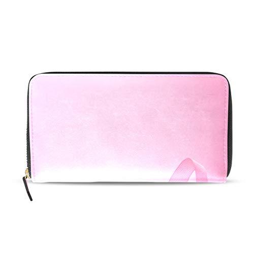 Pink Ribbon Breast Cancer Awareness Lange Passport Clutch Geldbörsen Zipper Wallet Case Handtasche Geld Organizer Tasche Kreditkarteninhaber Für Lady Frauen Mädchen Männer Reisegeschenk