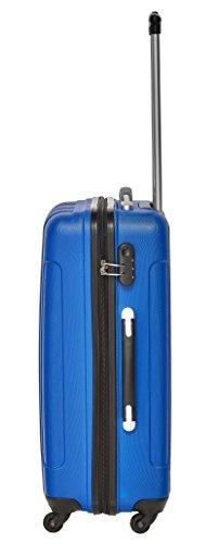 Packenger Kofferset - Torreto - 3-teilig (M, L & XL), Blau, 4 Rollen, Koffer mit Zahlenschloss, Hartschalenkoffer (ABS) robuster Trolley Reisekoffer - 5