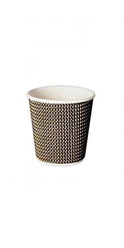 25 tasses de 12 cl pour échantillons de boissons chaudes / expresso en papier isolant jetables