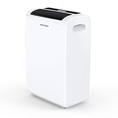 Ernovo Dehumidifiers For Home, Portable Dehumidifier With Digital Control Panel, LED Display, For Damp, Mould, Moisture In Home, Office, Kitchen, Bedroom, Garage, Basement