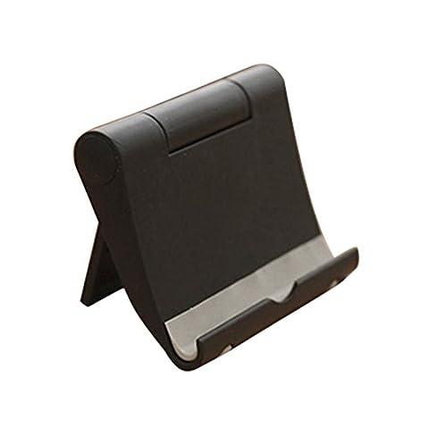 NoyoKere Desktop Falten Einstellbarer Winkel Telefon Tablet Stand - Schwarz