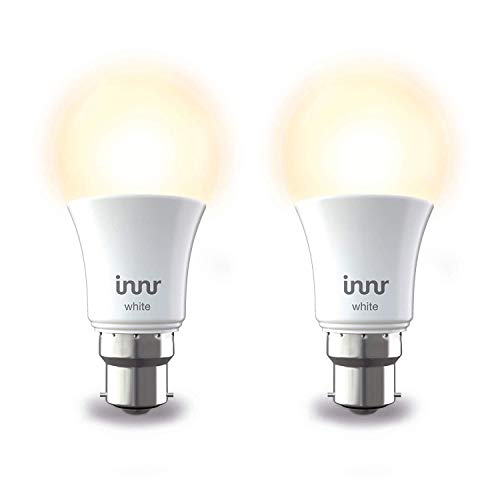 Innr Smart Bulb White B22, Works with Philips Hue* / Alexa/Google Assistant (Hub Required), by 265-2 (2-Pack)