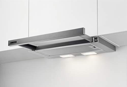 Zanussi ZHP60260SA Flachschirm-Dunstabzugshaube/Abluft oder Umluft / 60cm / Silberfarben/max. 120 m³/h/min. 68 - max. 72 dB(A)