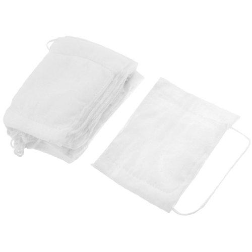 sourcingmap® Blanc Forme De Rectangle Coton Gaze Masque Visage 10 Pcs