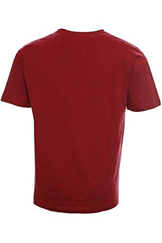 Kitaro Herren T-Shirt Dunkelrot
