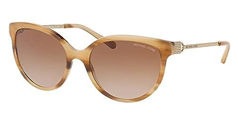 MICHAEL KORS Unisex Adults' Abi Sunglasses, Black (Blonde Horn 329113), 55