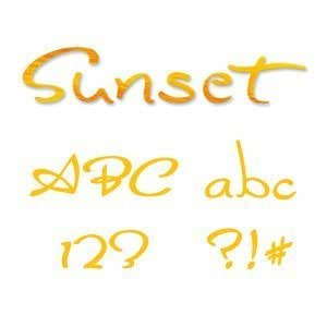 Sizzix 654882 Sizzlits Alphabet Set, 35 Dies, Sunset by Stu Kilgour by Ellison