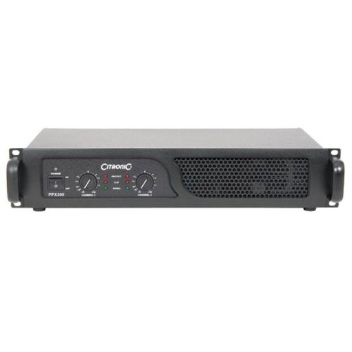 Citronic PPX-600 Amplificatore finale di potenza Hi-Fi DJ PA (2 x 300 Watt RMS, modalitá bridge, limiter commutabile, XLR)